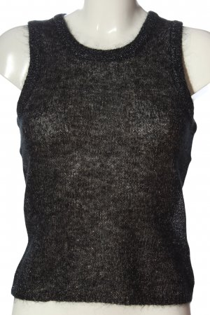 claire Strappy Top black flecked casual look