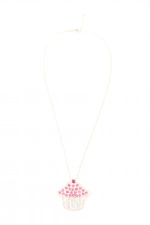 Claires Statement Necklace gold-colored-pink casual look