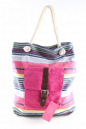 Claires Canvas Bag striped pattern casual look