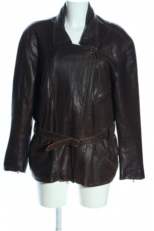 Clan Leather Jacket brown casual look