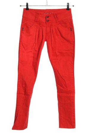 CLANDJONES 7/8 Length Trousers red casual look