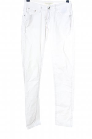 CLANDJONES Tube Jeans white casual look