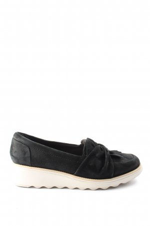 Clanks Wedge Pumps black-natural white casual look