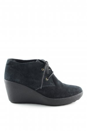 Clanks Wedge Booties black business style