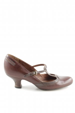 Clanks T-Strap Pumps brown elegant