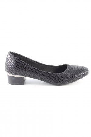 Clara Barson Loafers black animal pattern business style