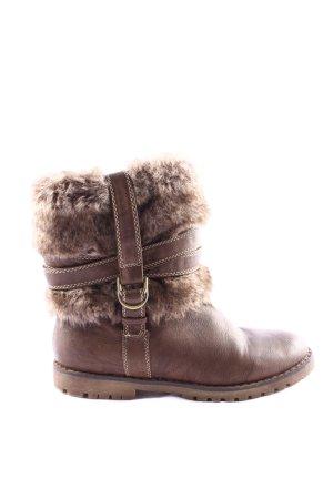 Clara Barson Futrzane buty brązowy W stylu casual