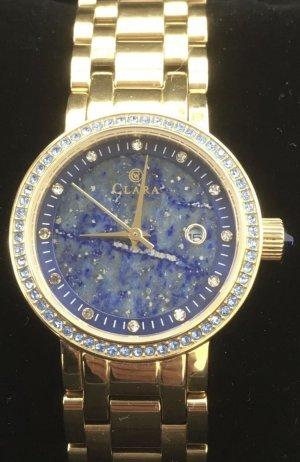 CLARA BY CONSTANTIN WEISZ Montre avec bracelet métallique doré-bleu acier