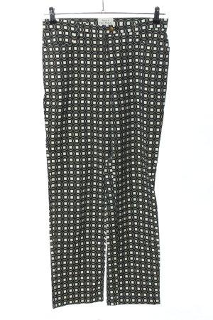 Clara Chiara High-Waist Hose schwarz-weiß grafisches Muster Casual-Look