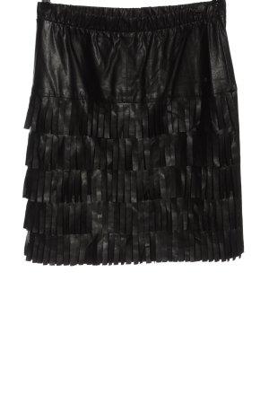 Clara Chiara Faux Leather Skirt black elegant