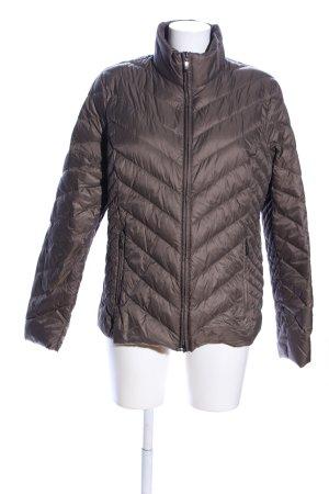 Clarina Doudoune brun motif de courtepointe style décontracté