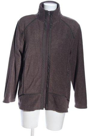 Clarina Fleece Jackets brown flecked casual look