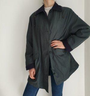 Clarina grün 42 True Vintage Jacke Übergangsjacke Mantel Trenchcoat Oversize Trench Coat