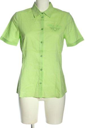 Clarina Shirt met korte mouwen groen zakelijke stijl