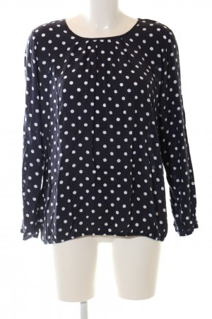 Clarina Langarm-Bluse schwarz Punktemuster Business-Look