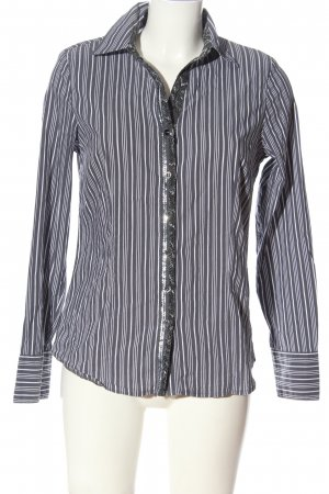 Clarina Long Sleeve Shirt blue-white allover print casual look