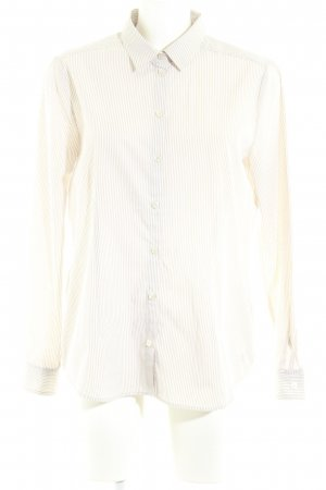 Clarina Langarmhemd beige-creme Streifenmuster