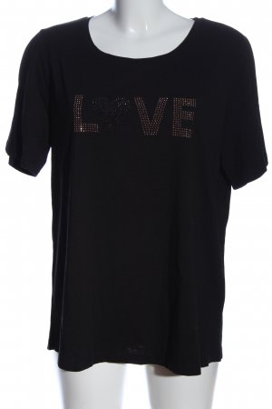 Clarina Koszulka z nadrukiem czarny Wydrukowane logo W stylu casual
