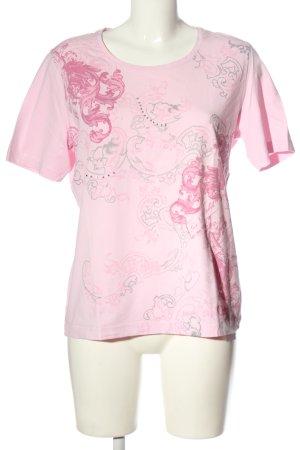 Clarina Print Shirt pink-light grey allover print casual look