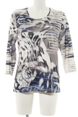 Clarina Print-Shirt abstraktes Muster Casual-Look