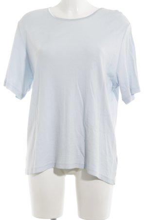 Clarina Rippshirt blau schlichter Stil