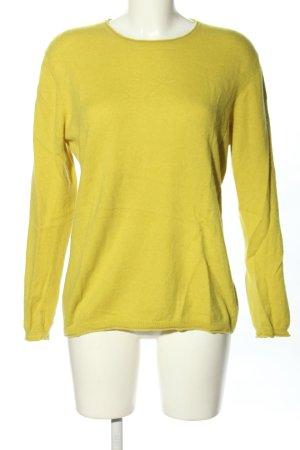 Clarina Sweter z okrągłym dekoltem bladożółty W stylu casual