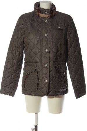Clarina Quilted Jacket brown quilting pattern casual look