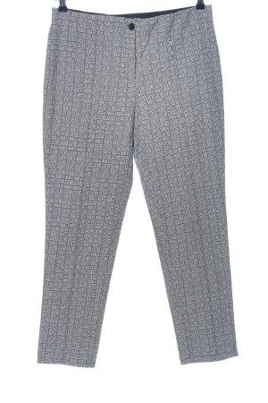 Clarina Pantalone elasticizzato grigio chiaro stampa integrale stile casual