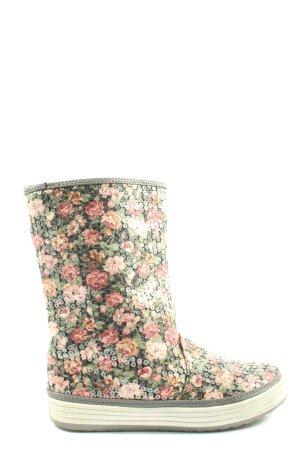 clarisse Wciągane buty za kostkę khaki-różowy Na całej powierzchni