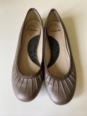 Clarks Ballerine à bride arrière marron clair cuir