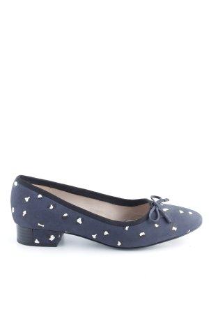 Clarks Bailarinas con punta azul estampado repetido sobre toda la superficie