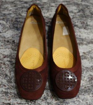 Clarks Slip-on Shoes bordeaux imitation leather