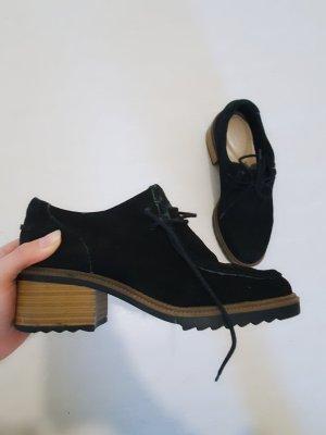Clarks Budapest schoenen beige-donkerblauw