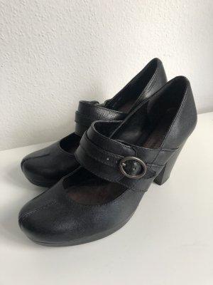 Clarks Damen Schuhe offene Pumps Plateaupumps