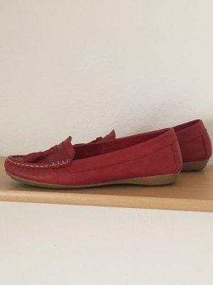 Clarks Damen Sommer Schuhe rot Gr. 38,5
