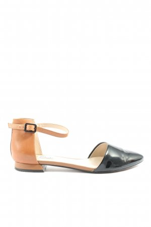 Clarks Bailarinas plegables marrón-negro look casual