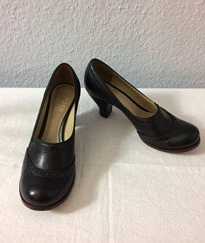 Clarks High Heel Loafers Pumps Gr. 5 / 38 schwarz Leder