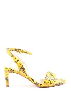 Clarks Sandalias de tacón alto amarillo pálido-negro look casual