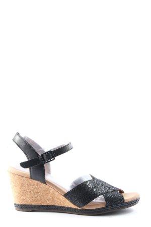 Clarks High Heel Sandaletten wollweiß-schwarz Casual-Look