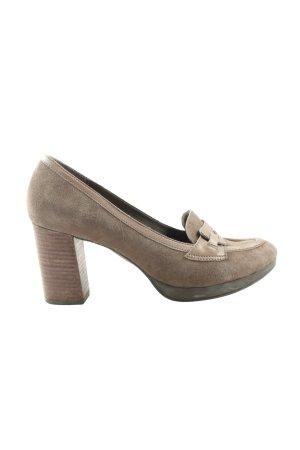 Clarks High Heels hellgrau Business-Look