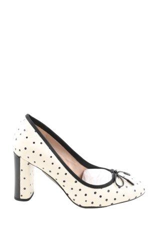 Clarks High Heels weiß-schwarz Punktemuster Casual-Look