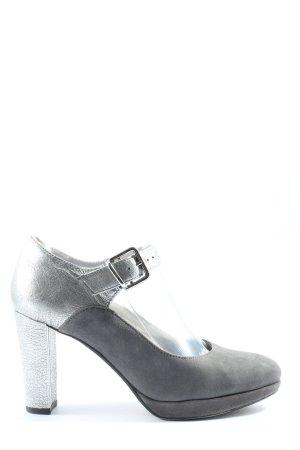 Clarks Chaussure à talons carrés gris clair style décontracté
