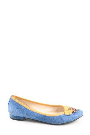 Clarks Klassische Ballerinas blau-blassgelb Casual-Look