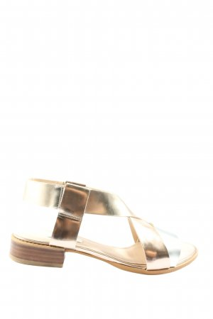 Clarks Comfort Sandals gold-colored casual look