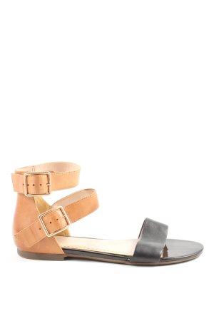 Clarks Sandalo comodo nero-color cammello
