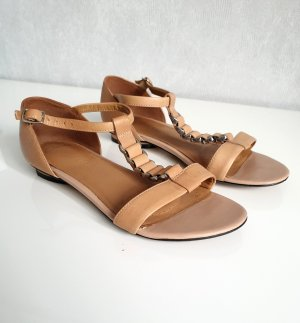 Clarks Strapped Sandals beige leather
