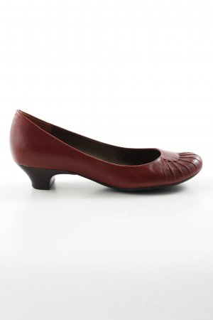 Clarks Mary Jane Ballerinas red casual look