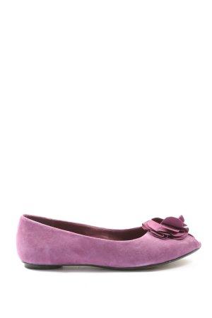 Clarks Peep Toe Ballerinas lilac casual look