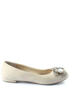 Clarks Peep Toe Ballerinas cream casual look