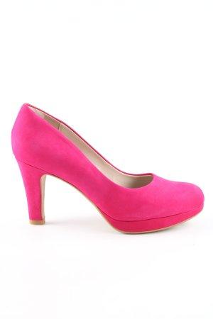 Clarks Tacones con plataforma rosa look casual